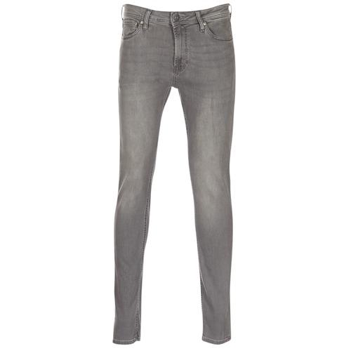 vaatteet Miehet Slim-farkut Jack & Jones LIAM Grey