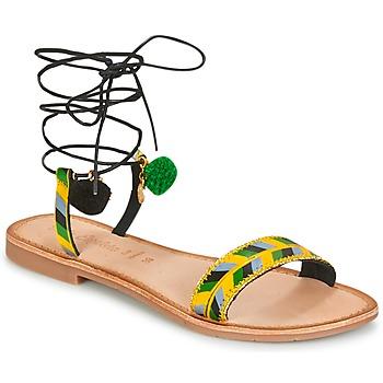 kengät Naiset Sandaalit ja avokkaat Lola Espeleta EDWINA Green / Yellow / Black