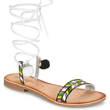 kengät Naiset Sandaalit ja avokkaat Lola Espeleta EDWINA Green / Silver