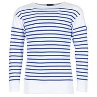 vaatteet Miehet T-paidat pitkillä hihoilla Armor Lux DISJON White / Blue