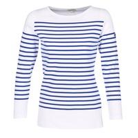 vaatteet Naiset T-paidat pitkillä hihoilla Armor Lux ROADY White / Blue