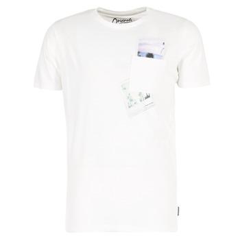 vaatteet Miehet Lyhythihainen t-paita Jack & Jones CHECK ORIGINALS White