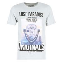 vaatteet Miehet Lyhythihainen t-paita Jack & Jones FASTER ORIGINALS Grey