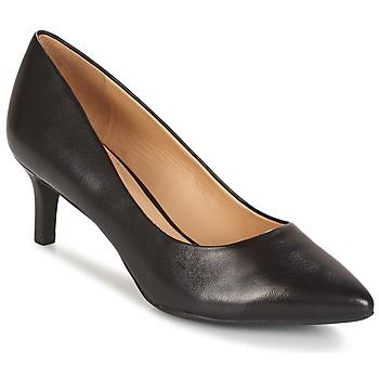 kengät Naiset Korkokengät Geox D ELINA C - CAPRA NAPPATA Black