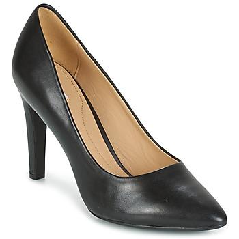 kengät Naiset Korkokengät Geox D CAROLINE C - NAPPA Black