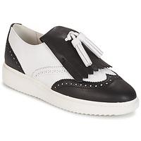 kengät Naiset Mokkasiinit Geox D THYMAR C - NAPPA White / Black