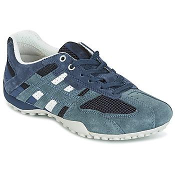 kengät Naiset Matalavartiset tennarit Geox U SNAKE K - SCAM.+MESH Blue