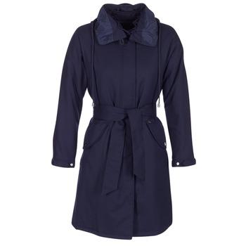 vaatteet Naiset Trenssitakki Armani jeans MERCHA Laivastonsininen