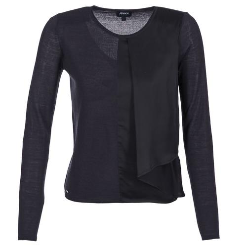 vaatteet Naiset Neulepusero Armani jeans JAUDO Laivastonsininen