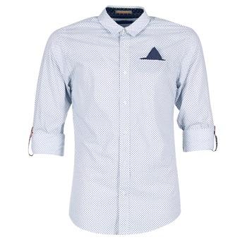 vaatteet Miehet Pitkähihainen paitapusero Scotch & Soda DARLU White / Blue