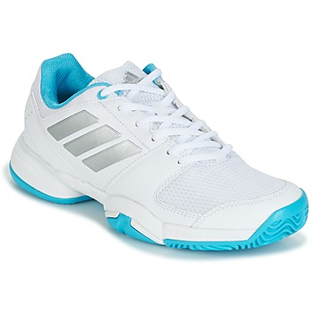 kengät Juoksukengät / Trail-kengät adidas Performance Barricade Club xJ White / Blue