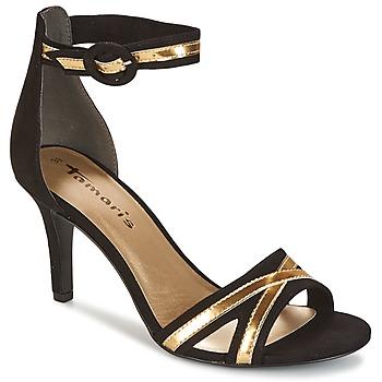 kengät Naiset Sandaalit ja avokkaat Tamaris  Black / Gold