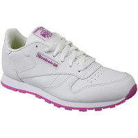 kengät Lapset Matalavartiset tennarit Reebok Sport Classic Leather BS8044 White
