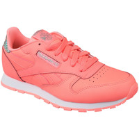 kengät Lapset Matalavartiset tennarit Reebok Sport Classic Leather BS8981 Pink