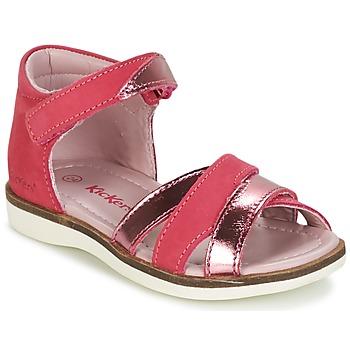 kengät Tytöt Sandaalit ja avokkaat Kickers GIGI Fuksia / Pink / Metallinen