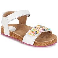 kengät Tytöt Sandaalit ja avokkaat Kickers NAISSA White