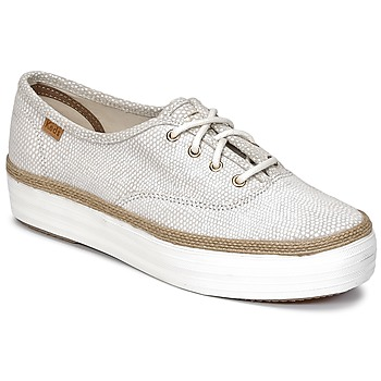 kengät Naiset Matalavartiset tennarit Keds TRIPLE DALMATA DOT LEATHER Kerma