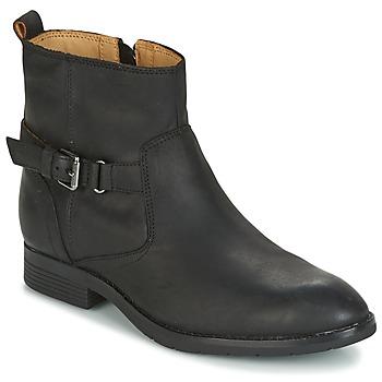 kengät Naiset Bootsit Sebago NASHOBA LOW BOOT WP Musta