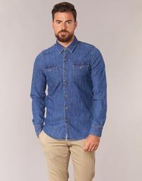 vaatteet Miehet Pitkähihainen paitapusero Casual Attitude IHERZI Blue