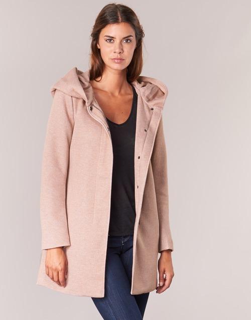 vaatteet Naiset Paksu takki Only SEDONA Pink