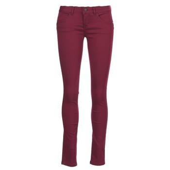 vaatteet Naiset 5-taskuiset housut Only LUCIA BORDEAUX
