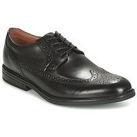 kengät Miehet Derby-kengät Clarks Black Leather Black