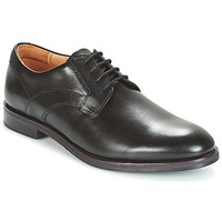kengät Miehet Derby-kengät Clarks Black Leather Black