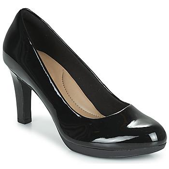 kengät Naiset Korkokengät Clarks ADRIEL VIOLA Musta / Tummanvihreä