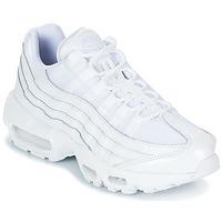 kengät Naiset Matalavartiset tennarit Nike AIR MAX 95 W White