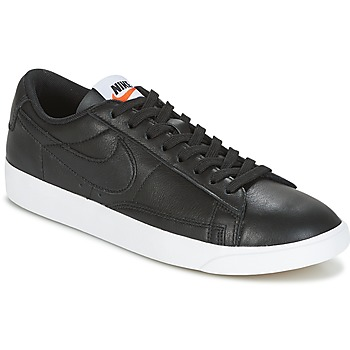 kengät Naiset Matalavartiset tennarit Nike BLAZER LOW LEATHER W Black