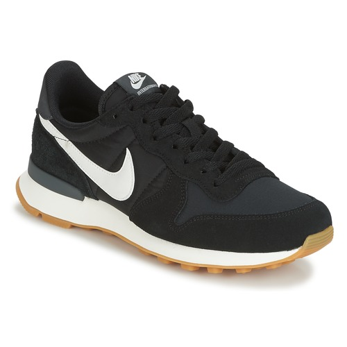 kengät Naiset Matalavartiset tennarit Nike INTERNATIONALIST W Black / White