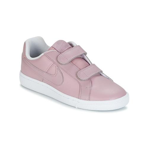 kengät Tytöt Matalavartiset tennarit Nike COURT ROYALE CADET Pink