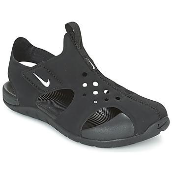 kengät Lapset Rantasandaalit Nike SUNRAY PROTECT 2 CADET Musta / Valkoinen
