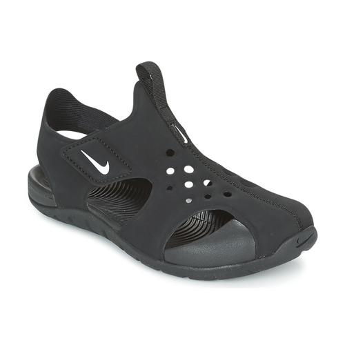 kengät Lapset Sandaalit ja avokkaat Nike SUNRAY PROTECT 2 CADET Black / White