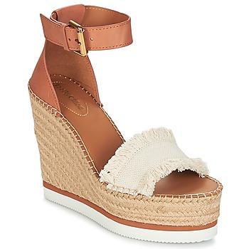 kengät Naiset Espadrillot See by Chloé SB28152 Cognac / Beige