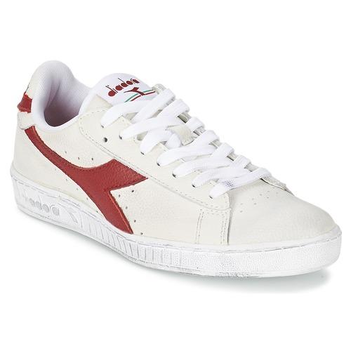 kengät Matalavartiset tennarit Diadora GAME L LOW WAXED Valkoinen / Punainen