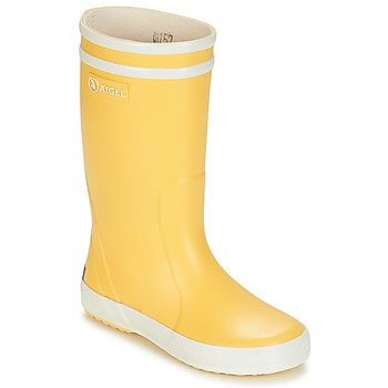 kengät Lapset Kumisaappaat Aigle LOLLY POP Yellow / White