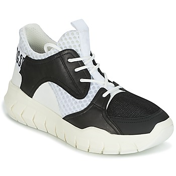 kengät Miehet Matalavartiset tennarit Bikkembergs FIGHTER 2022 LEATHER Black / White