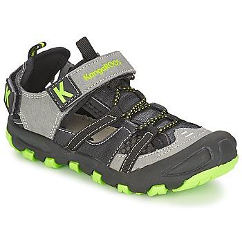 kengät Pojat Sandaalit ja avokkaat Kangaroos KANGASPEED 2068 Black / Green