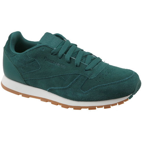 kengät Lapset Matalavartiset tennarit Reebok Sport CL Leather SG CM9079 Green