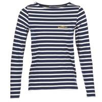 vaatteet Naiset T-paidat pitkillä hihoilla Betty London FLIGEME Laivastonsininen / White