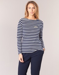 vaatteet Naiset T-paidat pitkillä hihoilla Betty London IFLIGEME Laivastonsininen / Valkoinen