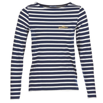 vaatteet Naiset T-paidat pitkillä hihoilla Betty London IFLIGEME Laivastonsininen / White