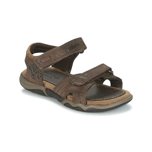 kengät Lapset Urheilusandaalit Timberland OAK BLUFFS Brown