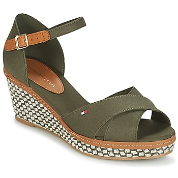 kengät Naiset Sandaalit ja avokkaat Tommy Hilfiger ICONIC ELBA SANDAL BASIC Green