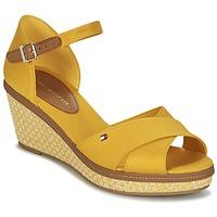 kengät Naiset Sandaalit ja avokkaat Tommy Hilfiger ICONIC ELBA SANDAL BASIC Yellow