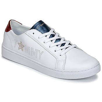 kengät Naiset Matalavartiset tennarit Tommy Hilfiger VENUS 22 White / Blue / Red
