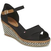 kengät Naiset Sandaalit ja avokkaat Tommy Hilfiger ICONIC ELBA SANDAL BASIC Black