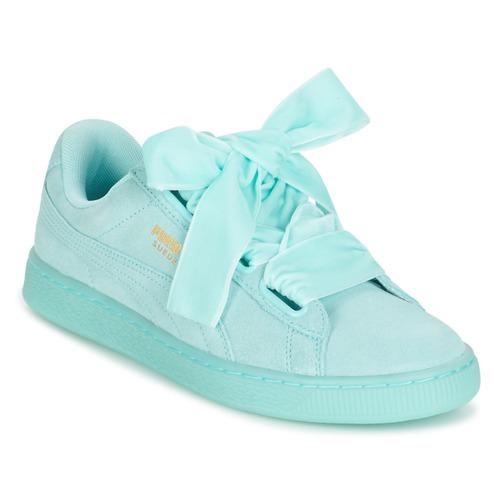 kengät Naiset Matalavartiset tennarit Puma SUEDE HEART RESET WN S Blue    Pastel 6267070fc9