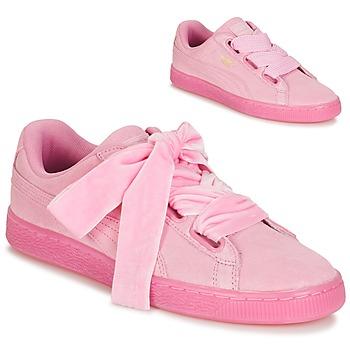 kengät Naiset Matalavartiset tennarit Puma SUEDE HEART RESET WN'S Vaaleanpunainen